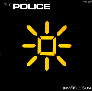 "Police (The) ‎- Invisible Sun (7"") (VG+/G++)"
